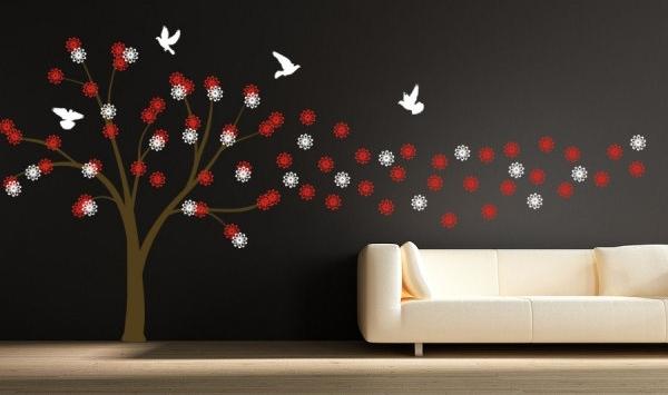 рисунки на стену в комнате: