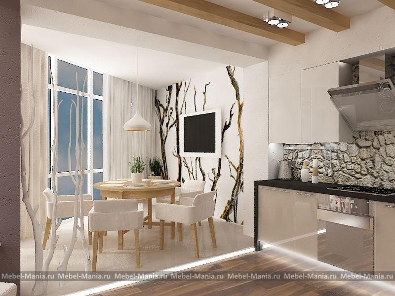 """Дизайн интерьера - кухня """"виктория""""."""