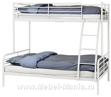 Срочно! Продам двухъярусную кровать + два матраса (ИКЕА