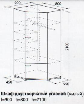 Угловой шкаф  схемы и чертежи