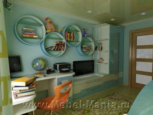 Дизайн школьной комнаты мальчика