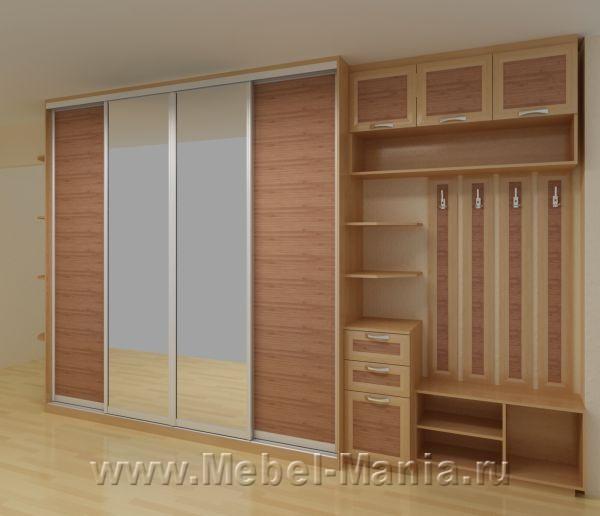 Шкафы купе с бамбуком