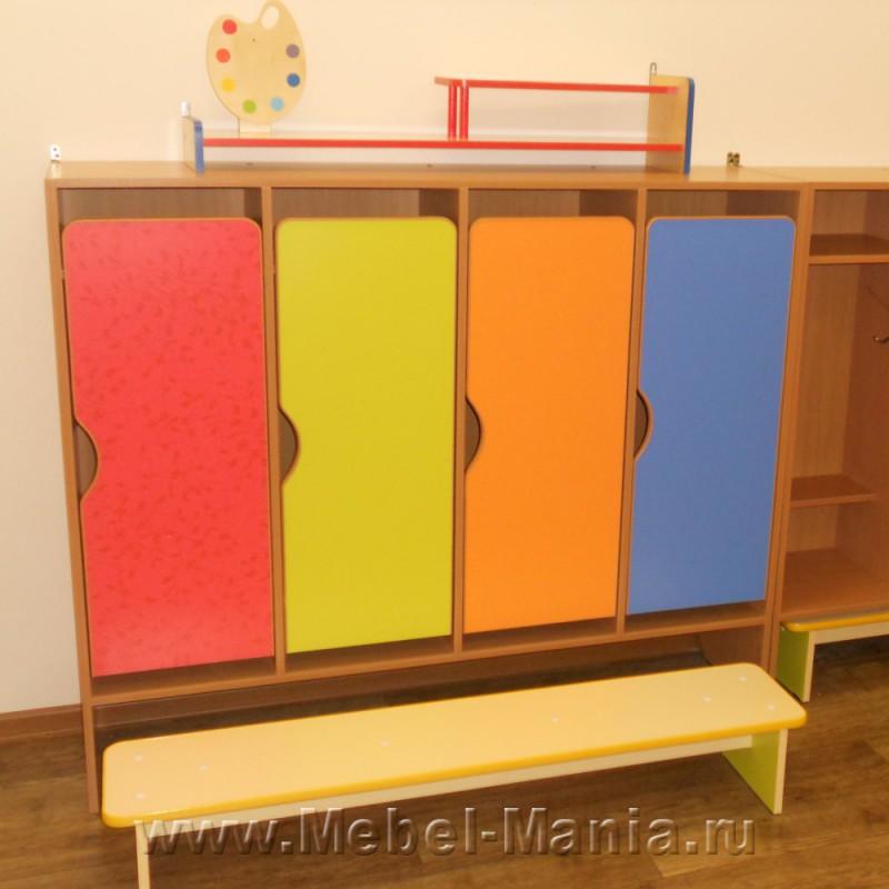 Шкафы для раздевания - детская мебель в первоуральске.