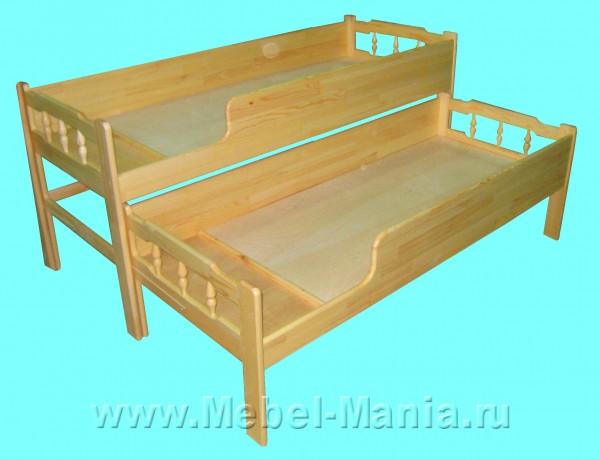 двухярустная кровать выкатная.
