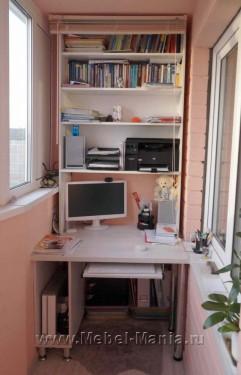 Компьютерный стол своими руками на балконе 10